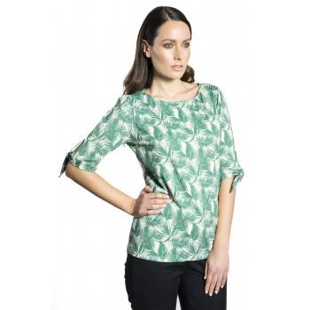 Μπλούζα με tropical τύπωμα
