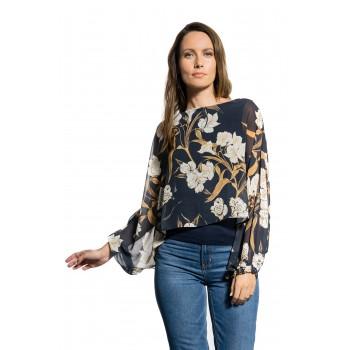 Μπλούζα με floral print